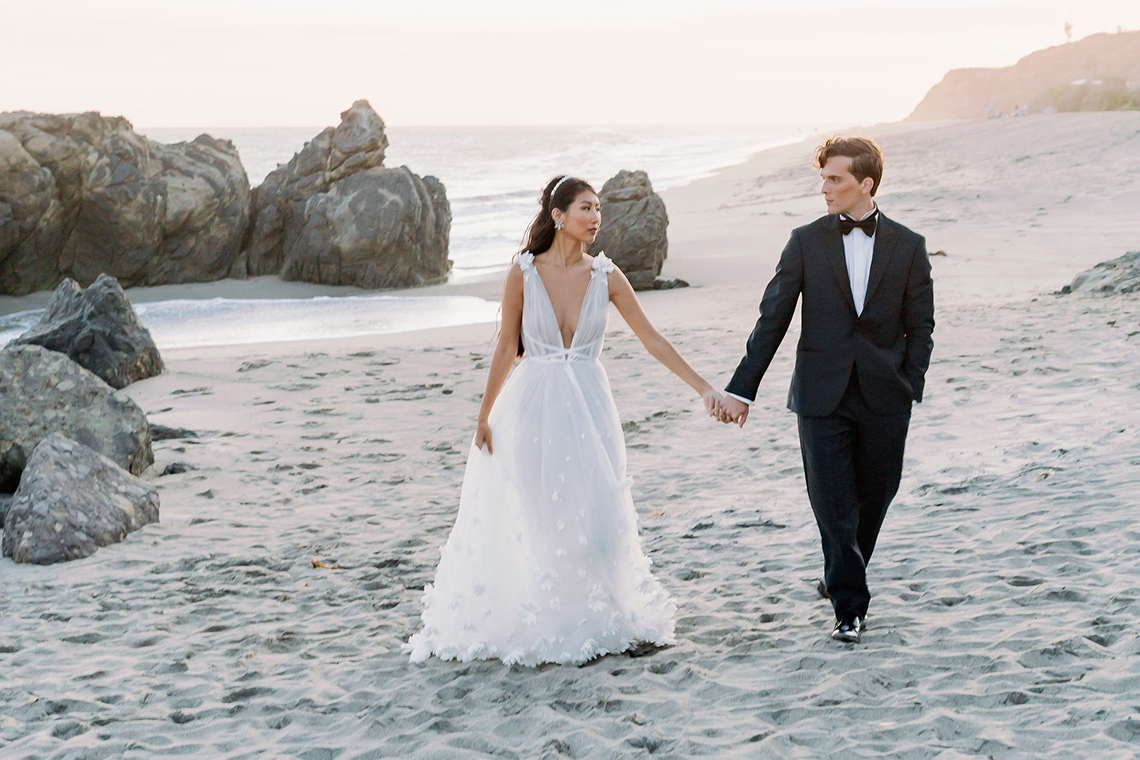 Ethereal Malibu Beach Wedding Inspiration – Courage and Dash Photo 23