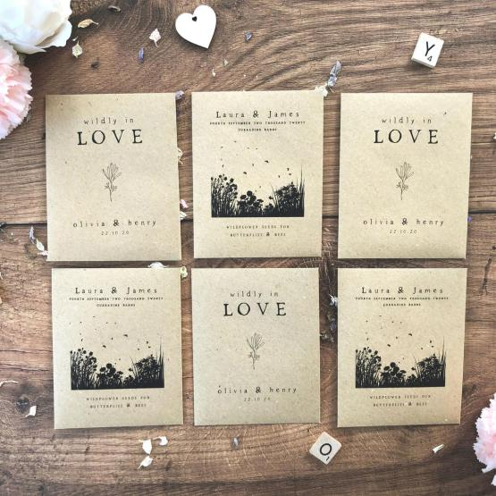 Personalized Seed Wedding Favors by Elle Bee Design UK on Etsy – The Best Places to Buy Wedding Stationery Invitations Paper Goods Online