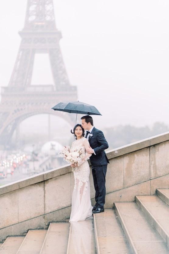 Rainy and Romantic Parisian Eiffel Tower Elopement Inspiration – Christine Grace Photography 2