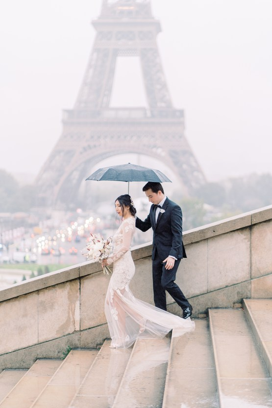 Rainy and Romantic Parisian Eiffel Tower Elopement Inspiration – Christine Grace Photography 4