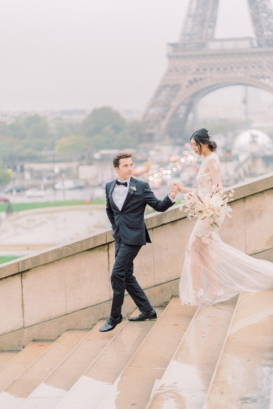 Rainy and Romantic Parisian Eiffel Tower Elopement Inspiration – Christine Grace Photography 8
