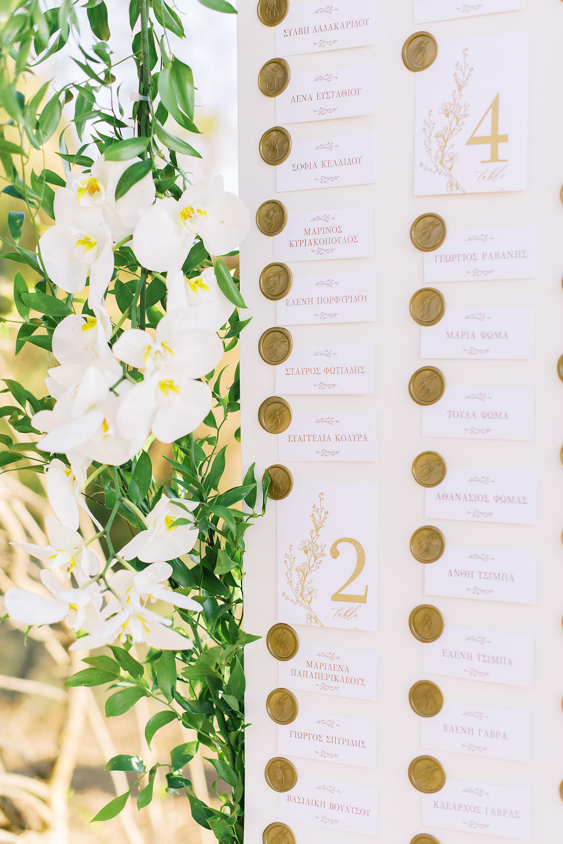 Villa Galini White and Gold Greek Wedding – Soo Events 25