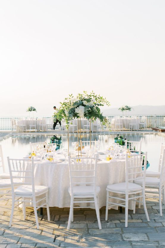 Villa Galini White and Gold Greek Wedding – Soo Events 34