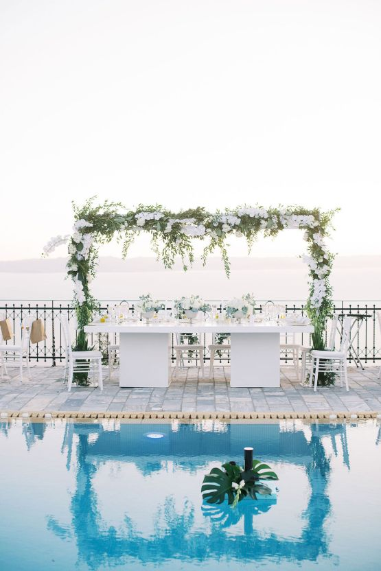 Villa Galini White and Gold Greek Wedding – Soo Events 38
