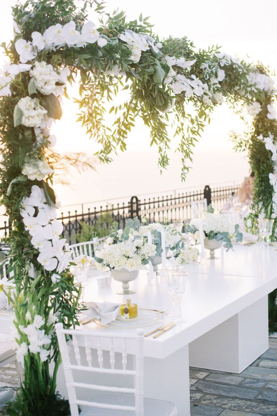 Villa Galini White and Gold Greek Wedding – Soo Events 39