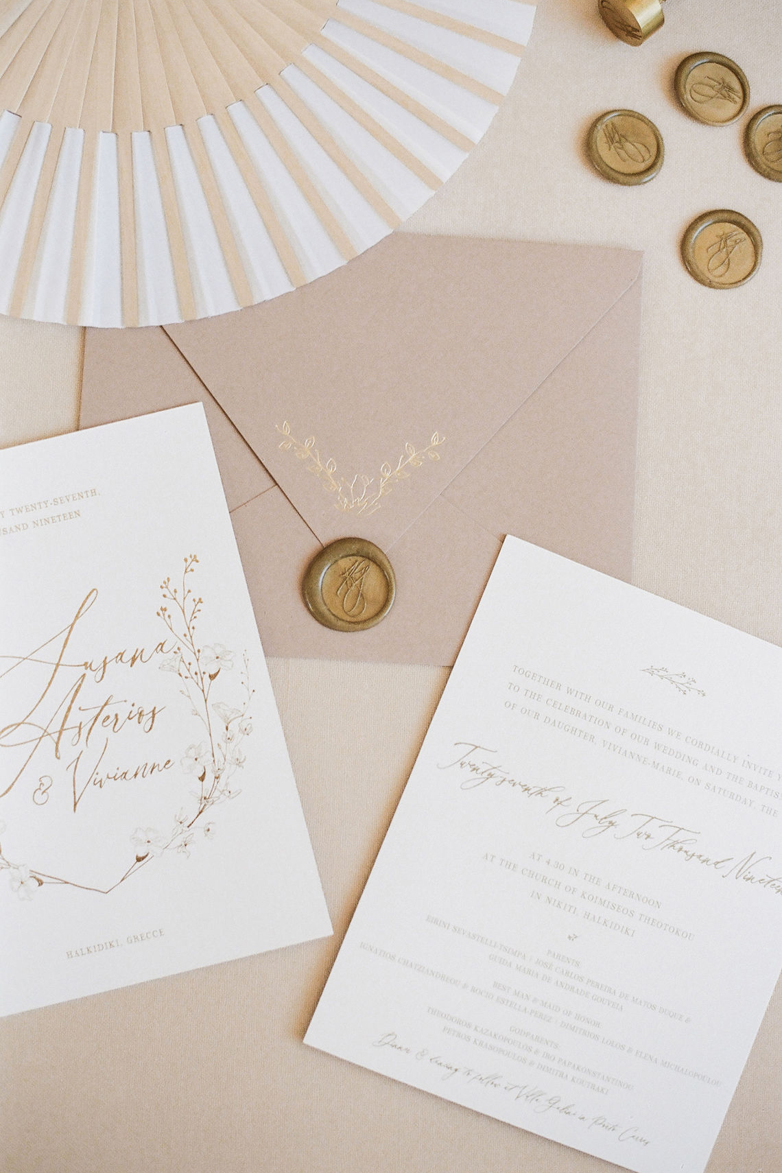 Villa Galini White and Gold Greek Wedding – Soo Events 4
