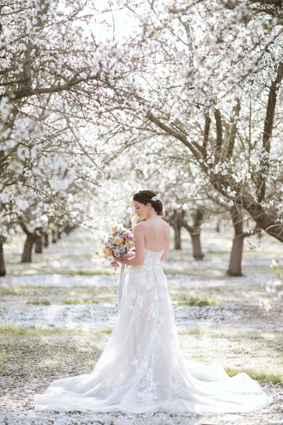 Whimsical Almond Orchard Blossom Wedding Inspiration – Playful Soul Photography 12