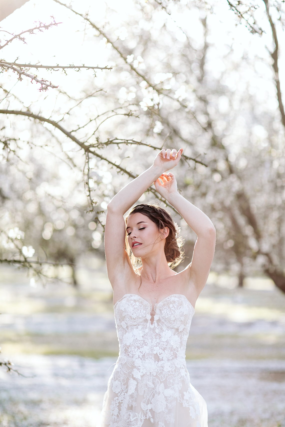 Whimsical Almond Orchard Blossom Wedding Inspiration – Playful Soul Photography 16