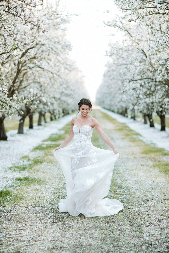 Whimsical Almond Orchard Blossom Wedding Inspiration – Playful Soul Photography 18