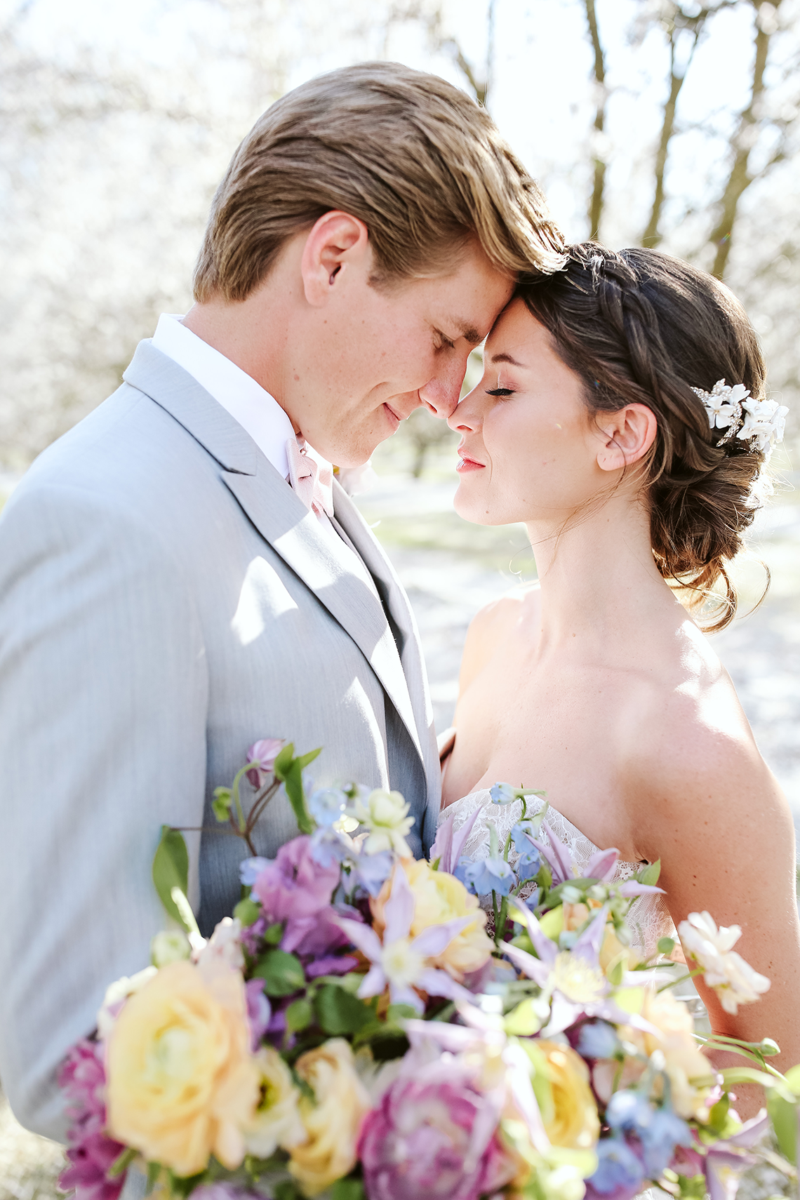 Whimsical Almond Orchard Blossom Wedding Inspiration – Playful Soul Photography 30