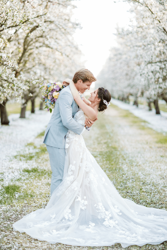 Whimsical Almond Orchard Blossom Wedding Inspiration – Playful Soul Photography 44