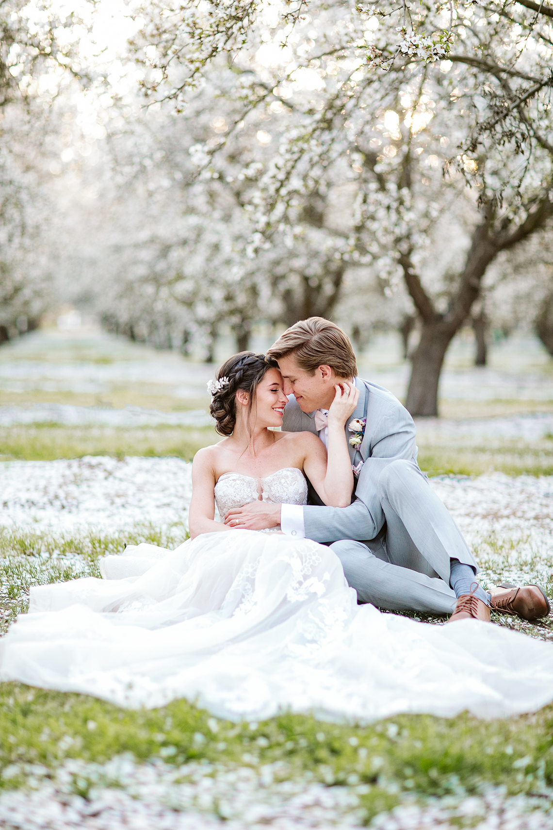 Whimsical Almond Orchard Blossom Wedding Inspiration – Playful Soul Photography 46