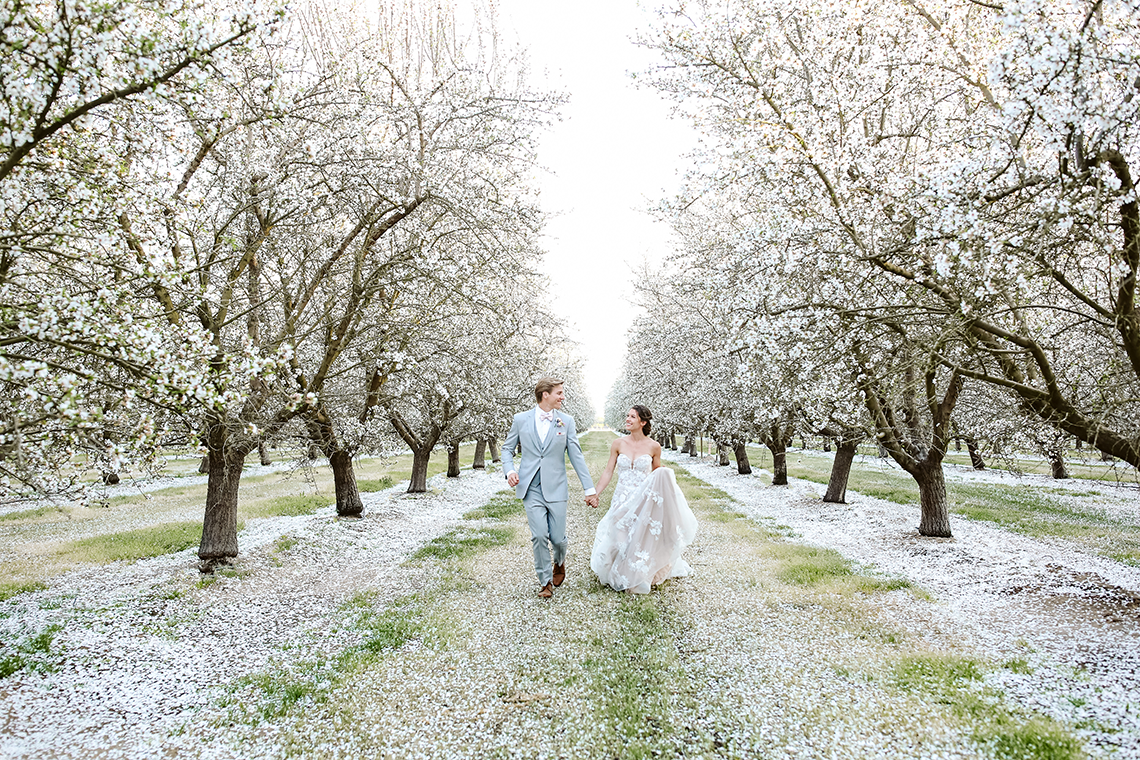 Whimsical Almond Orchard Blossom Wedding Inspiration – Playful Soul Photography 49