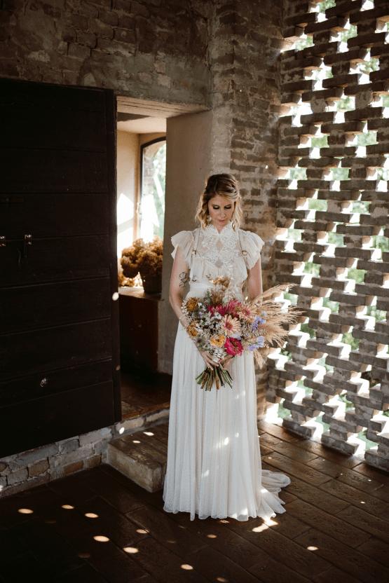 Bohemian Wildflower Wedding in Northern Italy – Margherita Calati – Castello di Paderna 29