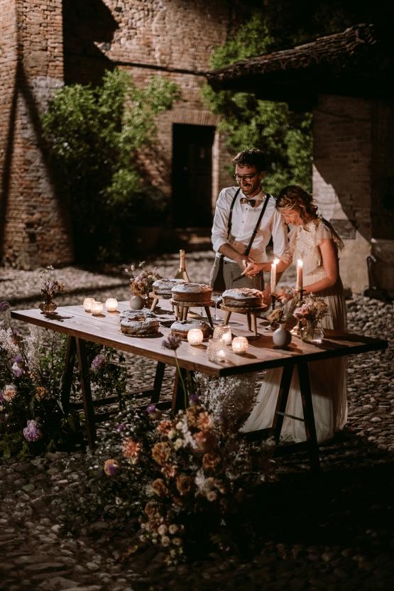 Bohemian Wildflower Wedding in Northern Italy – Margherita Calati – Castello di Paderna 57