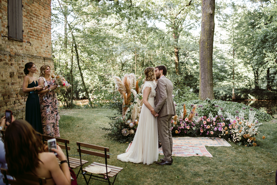 Bohemian Wildflower Wedding in Northern Italy – Margherita Calati – Castello di Paderna 6