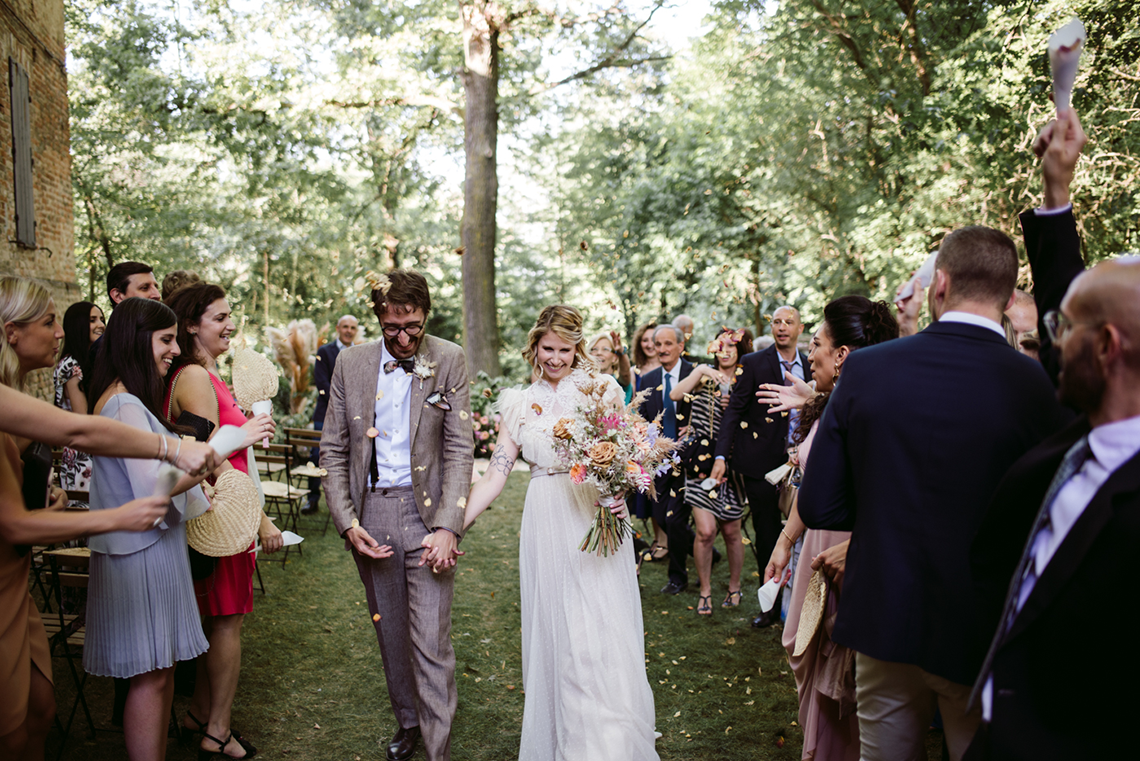 Bohemian Wildflower Wedding in Northern Italy – Margherita Calati – Castello di Paderna 7