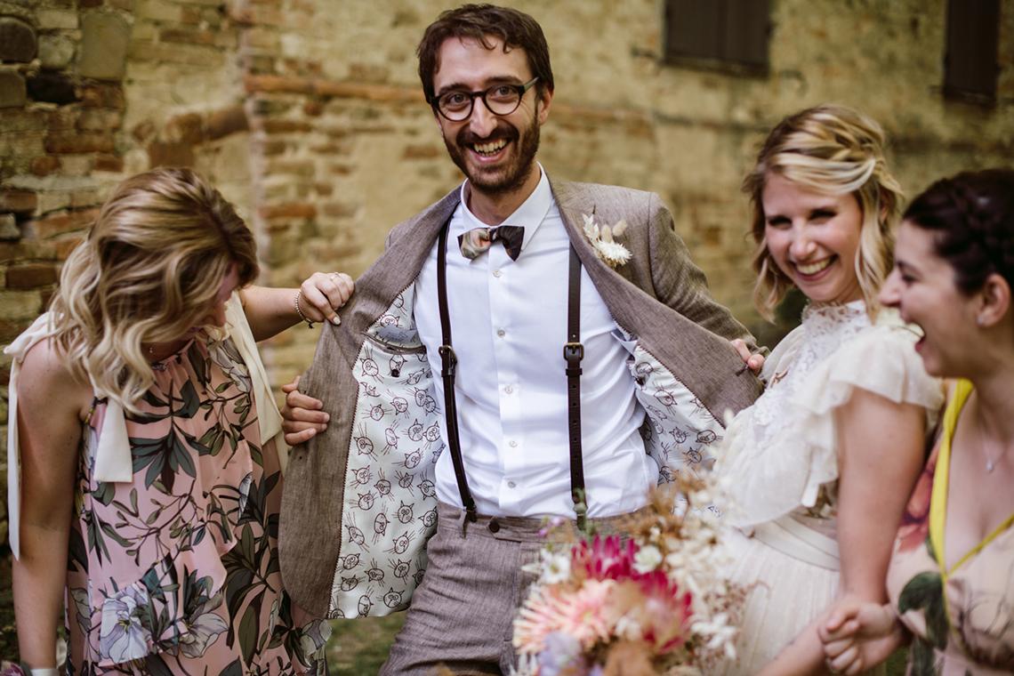Bohemian Wildflower Wedding in Northern Italy – Margherita Calati – Castello di Paderna 8
