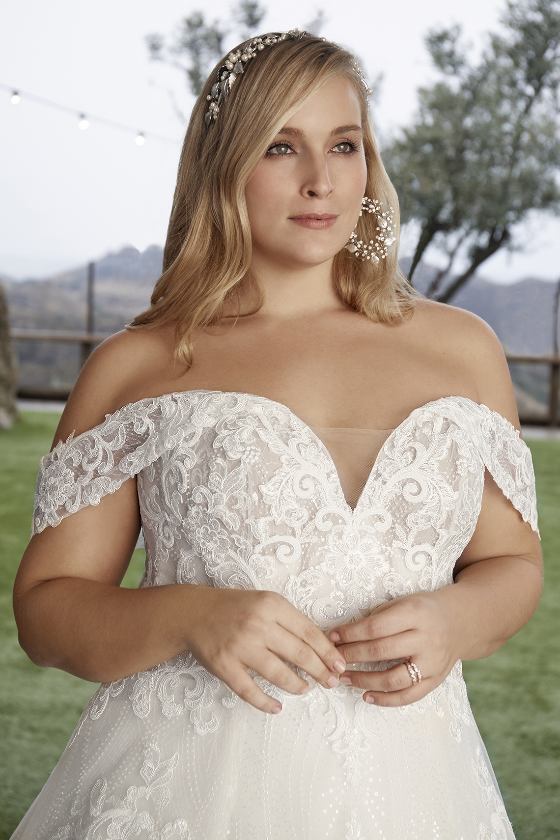 Casablanca Bridal Off-the-shoulder Wedding Dresses – Bridal Musings – 2427C – Myla 1