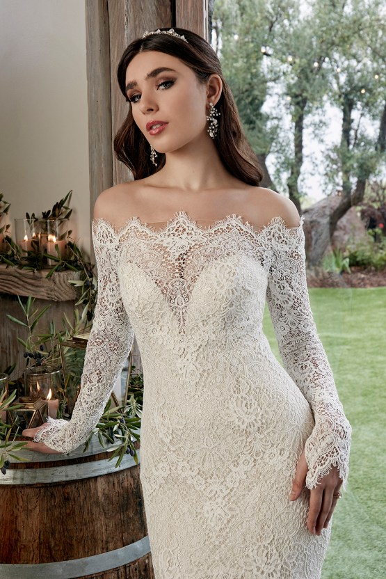 Casablanca Bridal Off-the-shoulder Wedding Dresses – Bridal Musings – 2428 – Reese 1