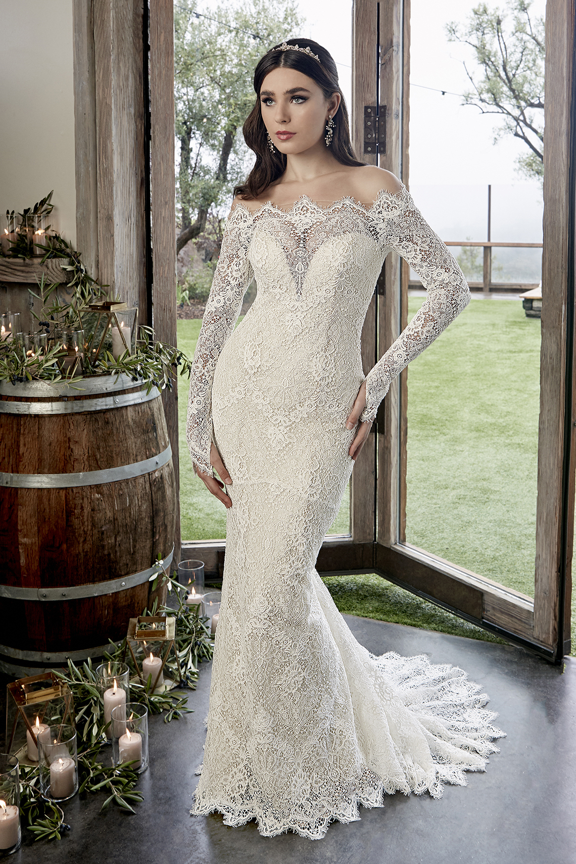 Casablanca Bridal Off-the-shoulder Wedding Dresses – Bridal Musings – 2428 – Reese 2