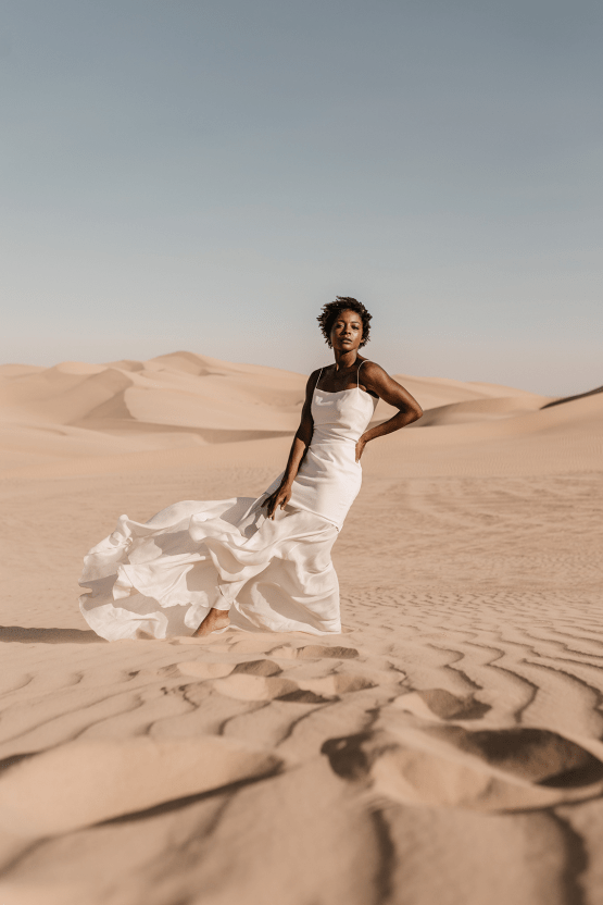 Desert Sand Dune Wedding Inspiration with Natural Hair Ideas for Black Brides – Tor Hawley – The LAW Bridal 13