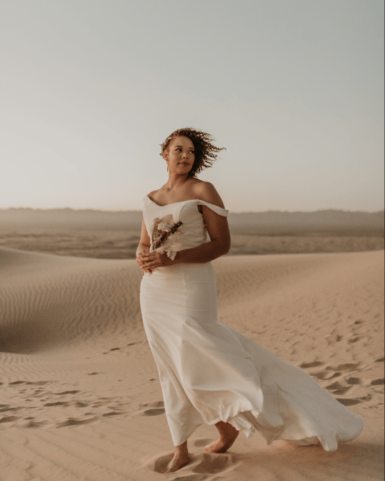Desert Sand Dune Wedding Inspiration with Natural Hair Ideas for Black Brides – Tor Hawley – The LAW Bridal 54