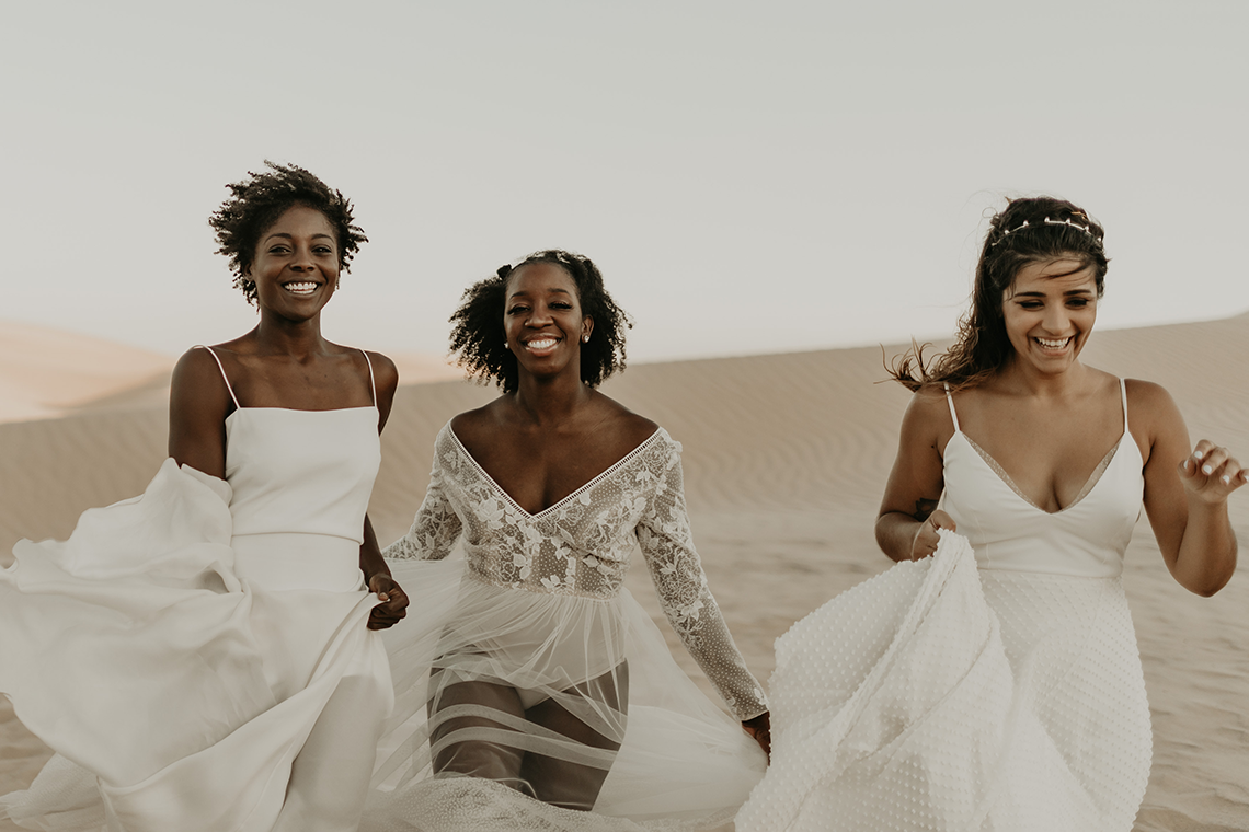 Desert Sand Dune Wedding Inspiration with Natural Hair Ideas for Black Brides – Tor Hawley – The LAW Bridal 6