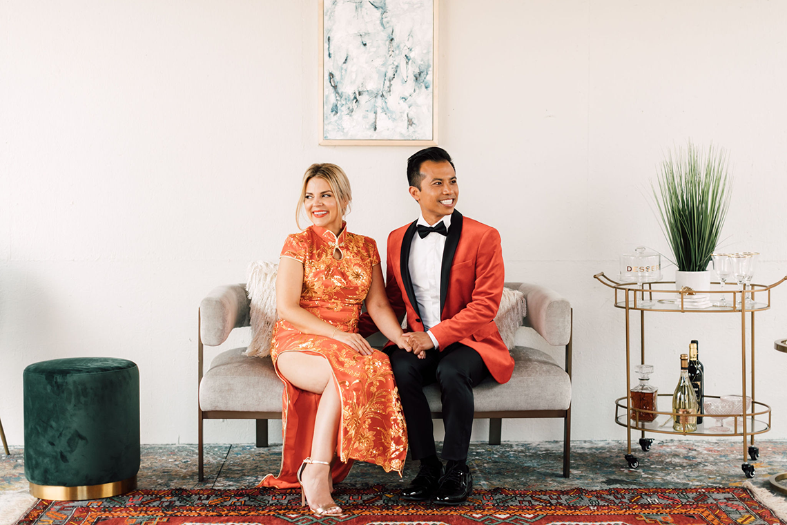 Industrial Chic Chinese and Western San Diego Wedding – Plum and Oak Photo – Sandbox 56