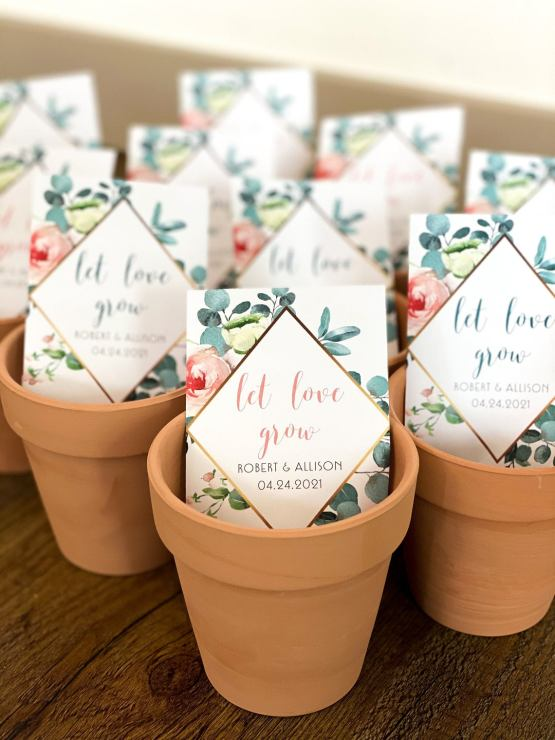 Let Love Grow Plain Jane Seed Packet Wedding Favor- Etsy – The Best Places to Buy Wedding Favors and Supplies