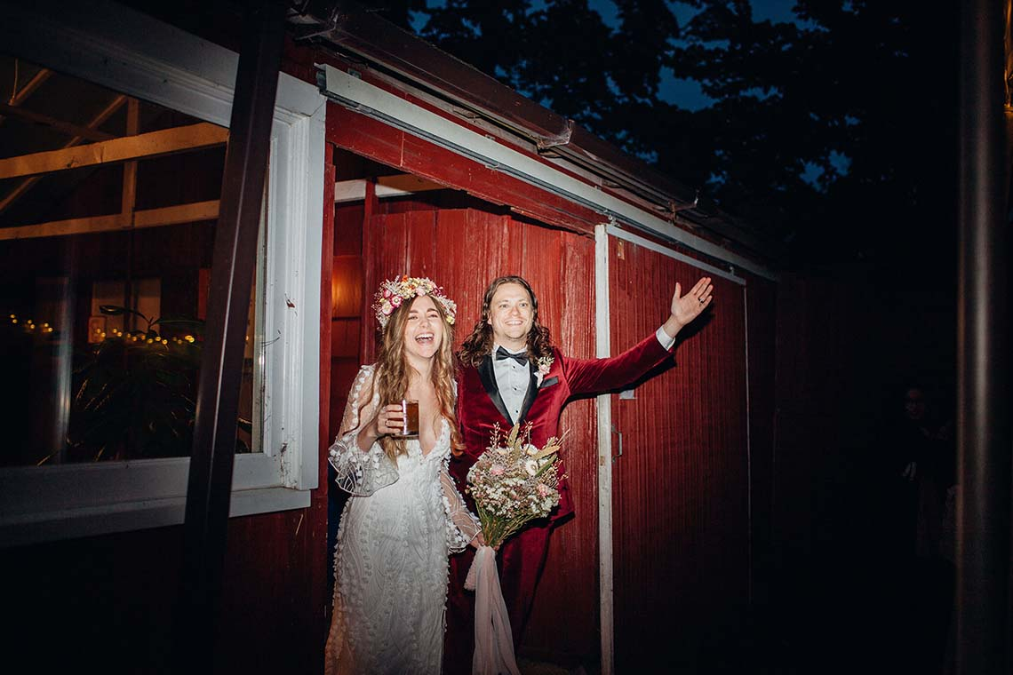 Pacific Northwest Rock and Roll Beach Wedding at The Funky Souwester Lodge – Claire Eliza Wedding Photography – Christina Castello and Drew Pull – Alexandra Grecco Dylan Gown 18