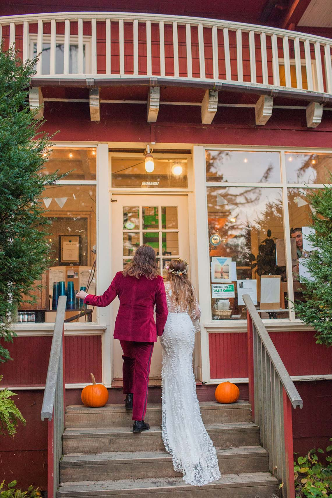 Pacific Northwest Rock and Roll Beach Wedding at The Funky Souwester Lodge – Claire Eliza Wedding Photography – Christina Castello and Drew Pull – Alexandra Grecco Dylan Gown 48