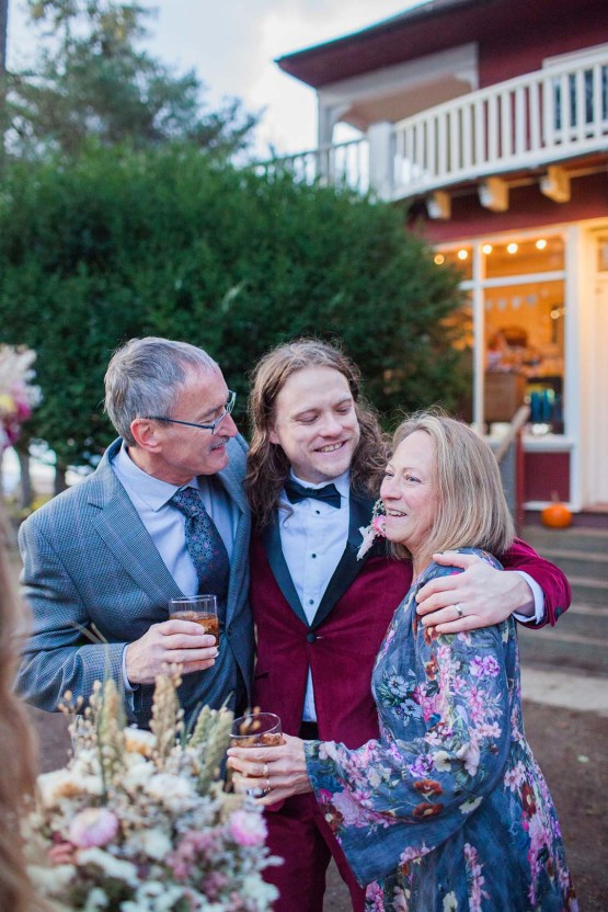 Pacific Northwest Rock and Roll Beach Wedding at The Funky Souwester Lodge – Claire Eliza Wedding Photography – Christina Castello and Drew Pull – Alexandra Grecco Dylan Gown 57