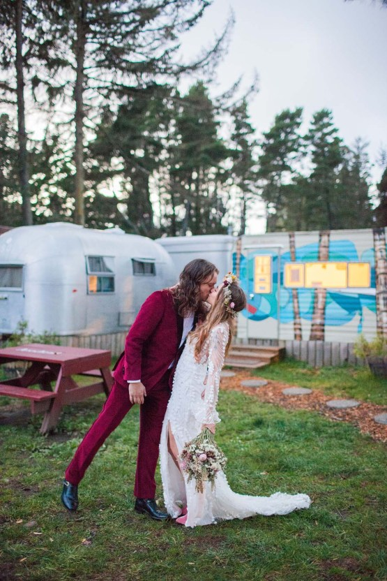 Pacific Northwest Rock and Roll Beach Wedding at The Funky Souwester Lodge – Claire Eliza Wedding Photography – Christina Castello and Drew Pull – Alexandra Grecco Dylan Gown 60