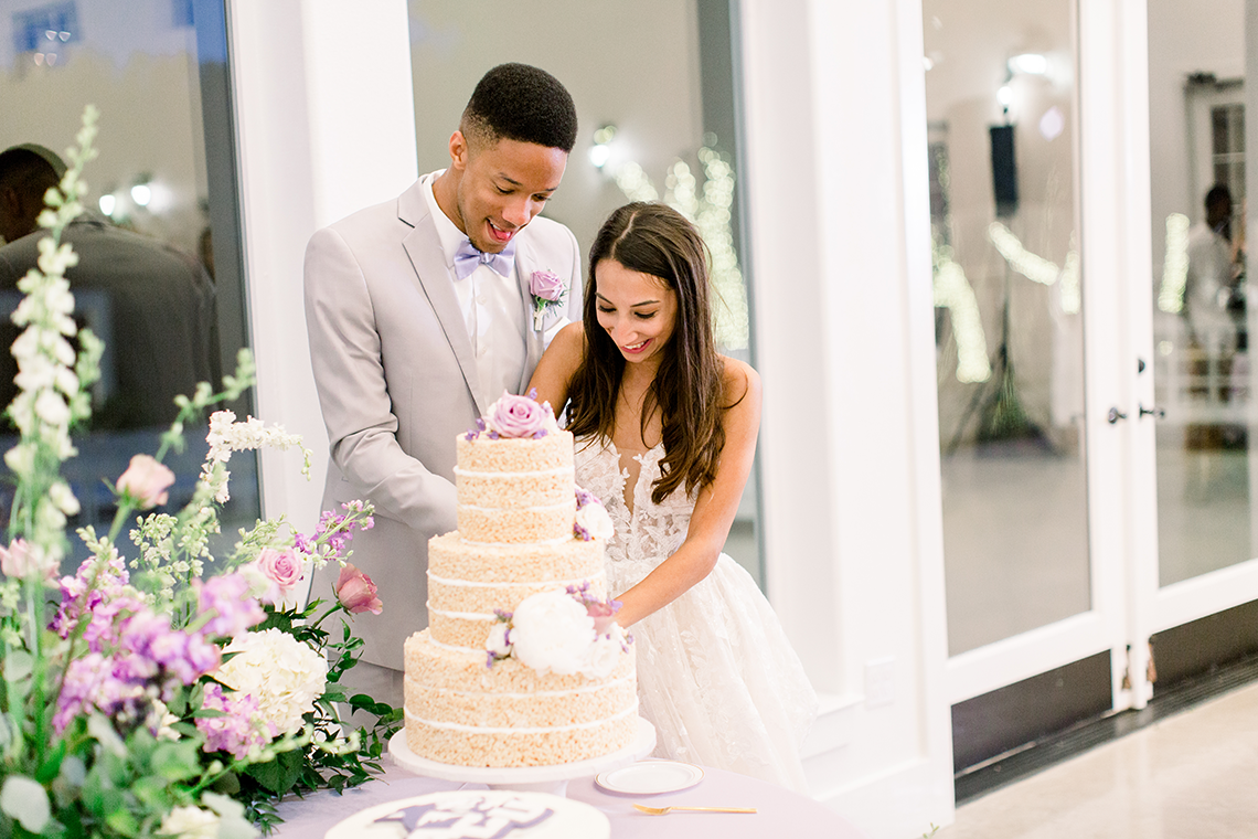 Sweet Lilac Countryside Wedding with a Rice Krispie Treat Cake – Andria Lea – Firefly Gardens 13