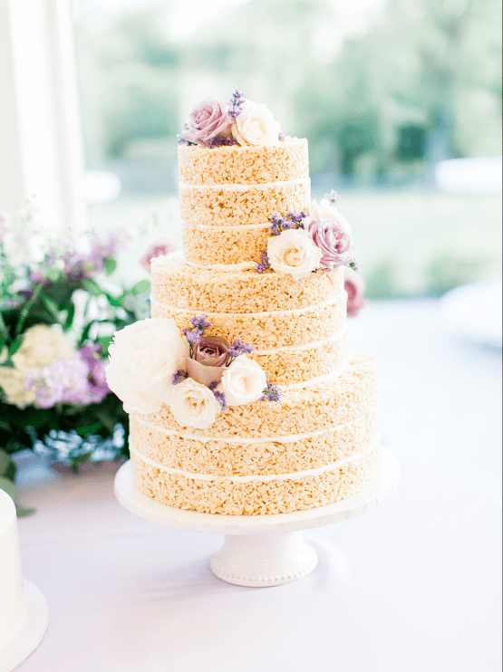 Sweet Lilac Countryside Wedding with a Rice Krispie Treat Cake – Andria Lea – Firefly Gardens 29