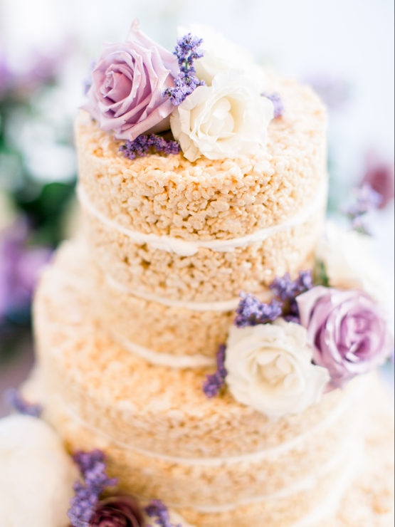 Sweet Lilac Countryside Wedding with a Rice Krispie Treat Cake – Andria Lea – Firefly Gardens 30