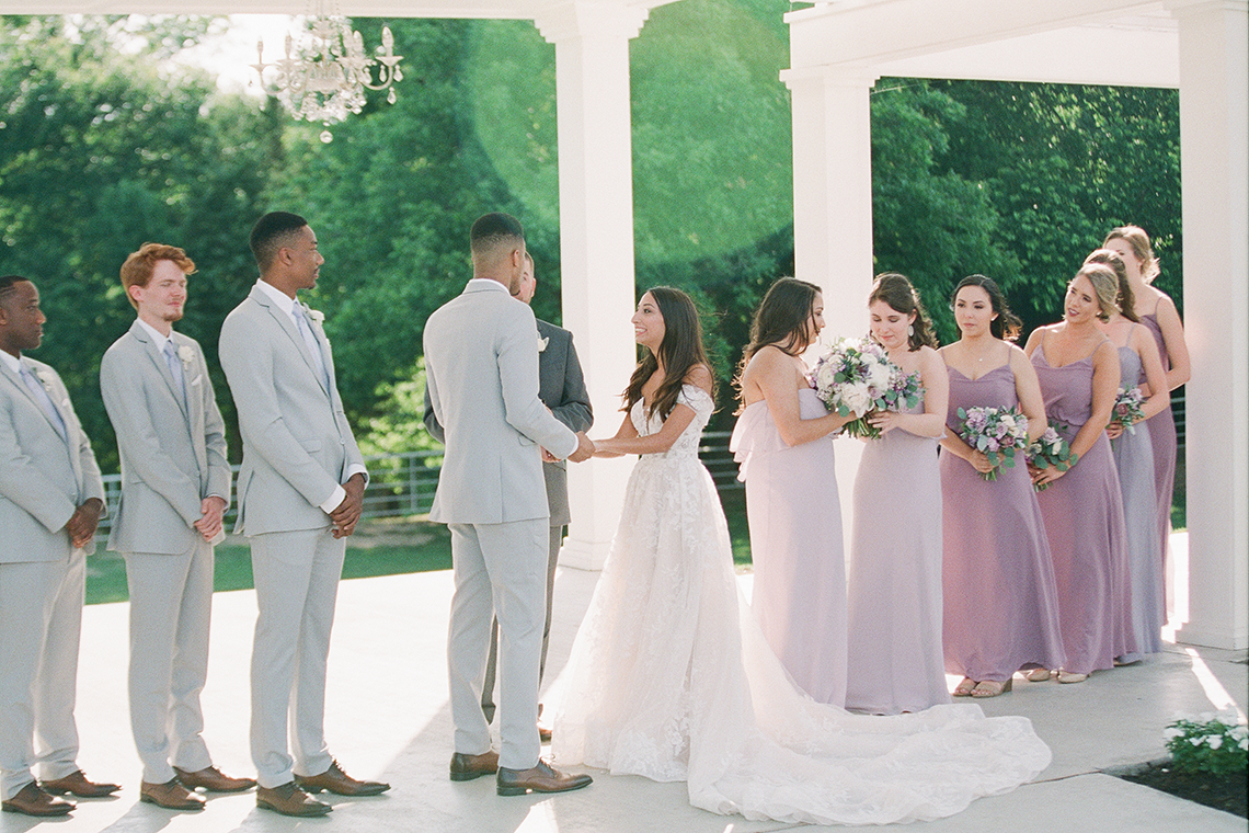 Sweet Lilac Countryside Wedding with a Rice Krispie Treat Cake – Andria Lea – Firefly Gardens 4