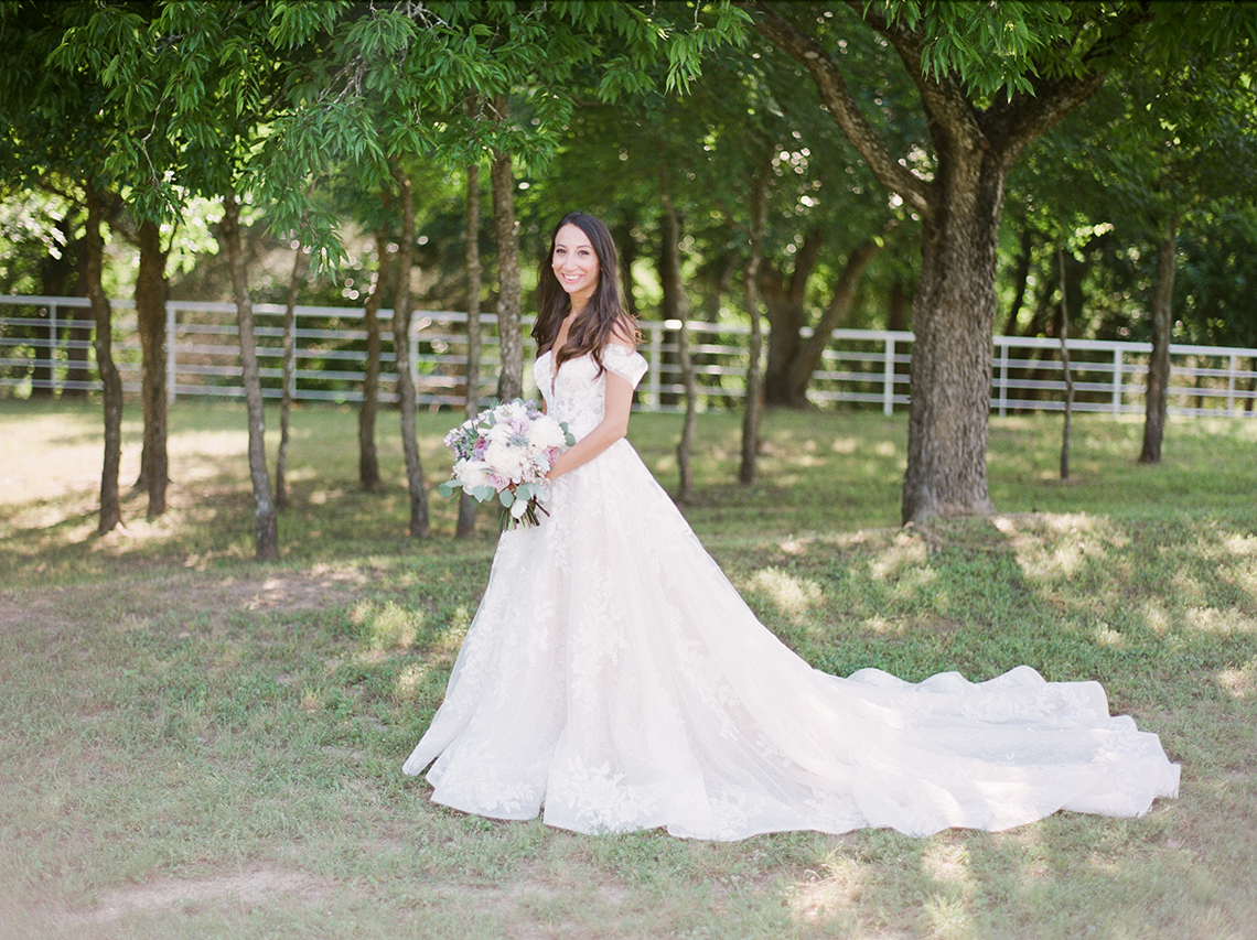 Sweet Lilac Countryside Wedding with a Rice Krispie Treat Cake – Andria Lea – Firefly Gardens 8