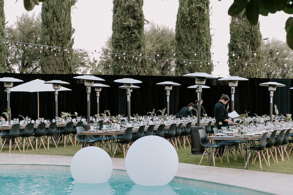 Ultra-Stylish Palm Springs Wedding with Modern Black Details – Frederick Loewe Estate – Mary Claire Roman 10