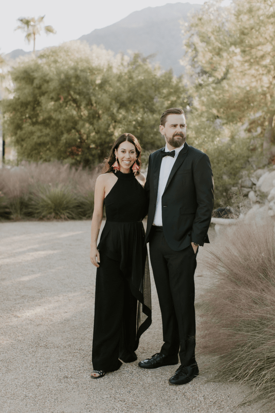 Ultra-Stylish Palm Springs Wedding with Modern Black Details – Frederick Loewe Estate – Mary Claire Roman 20
