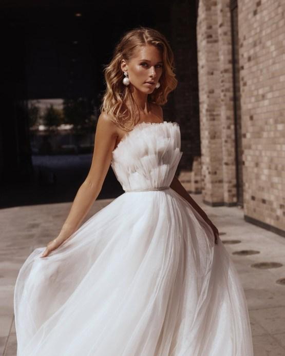 Alex Veil Bridal Amalia strapless tulle wedding dress – The Best Wedding Dress Designer Shops on Etsy 4