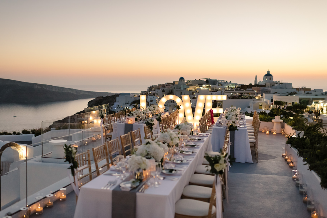 Blue and White Santorini Cliffside Same Sex Wedding – Nathan Wyatt Photography 17