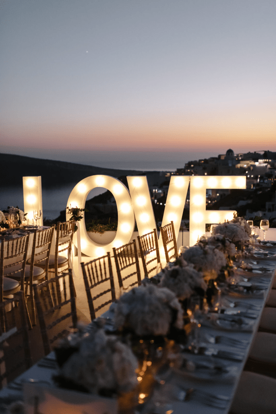 Blue and White Santorini Cliffside Same Sex Wedding – Nathan Wyatt Photography 47