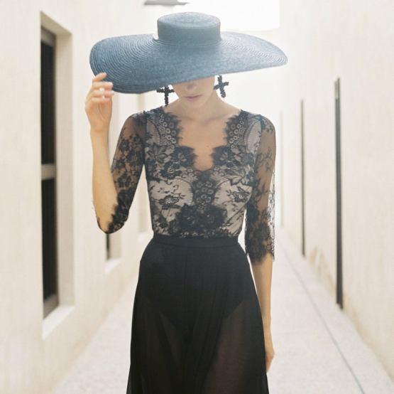 Cathy Telle Sexy Lace Black Wedding Dress Bodysuit – The Best Wedding Dress Designer Shops on Etsy 3