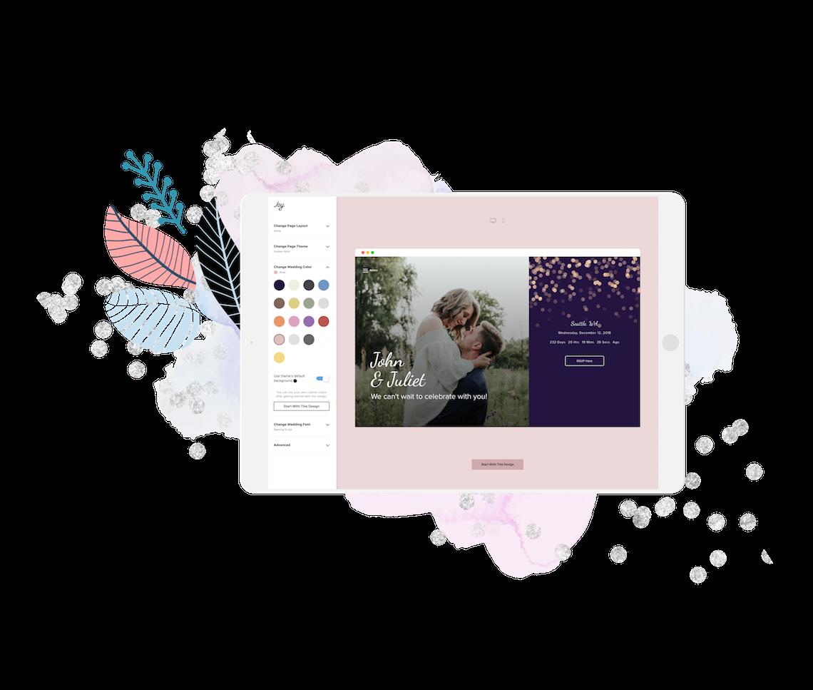 Creating a Wedding Website in 2020 – Joy – Bridal Musings – Website Editor