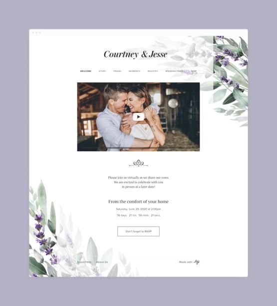 Creating a Wedding Website in 2020 – Joy – Bridal Musings – Wedding Website – Live Stream – 1