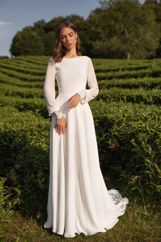 Feminine Simple Minimalistic Wedding Dresses by Mila Bridal 2020 2021 – Bridal Musings 12