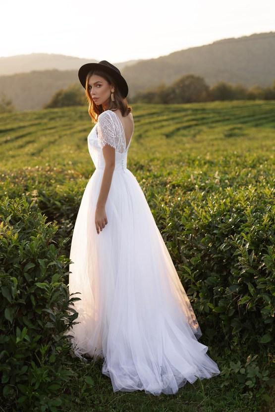 Feminine Simple Minimalistic Wedding Dresses by Mila Bridal 2020 2021 – Bridal Musings 28