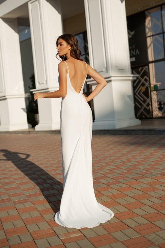 Feminine Simple Minimalistic Wedding Dresses by Mila Bridal 2020 2021 – Bridal Musings 32